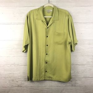 Tommy Bahama Men Green Short Sleeve Button Down